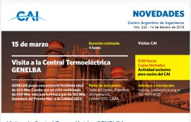 Centro Argentino de Ingenieros - Boletín Nro. 242 - 14 de febrero de 2018