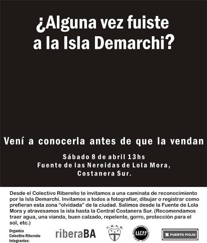El Colectivo Ribereño invita a una caminata por la Isla Demarchi