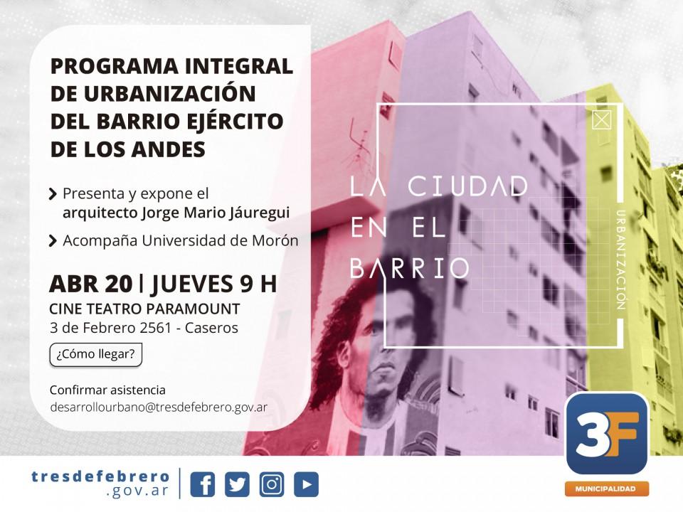Invitación Programa Urbanización Barrio Ejército de los Andes- Fuerte Apache