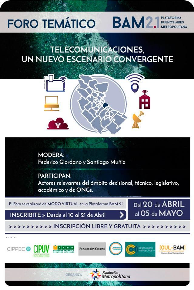 Foro de Telecomunicaciones - Inscripciones hasta el 21 de abril