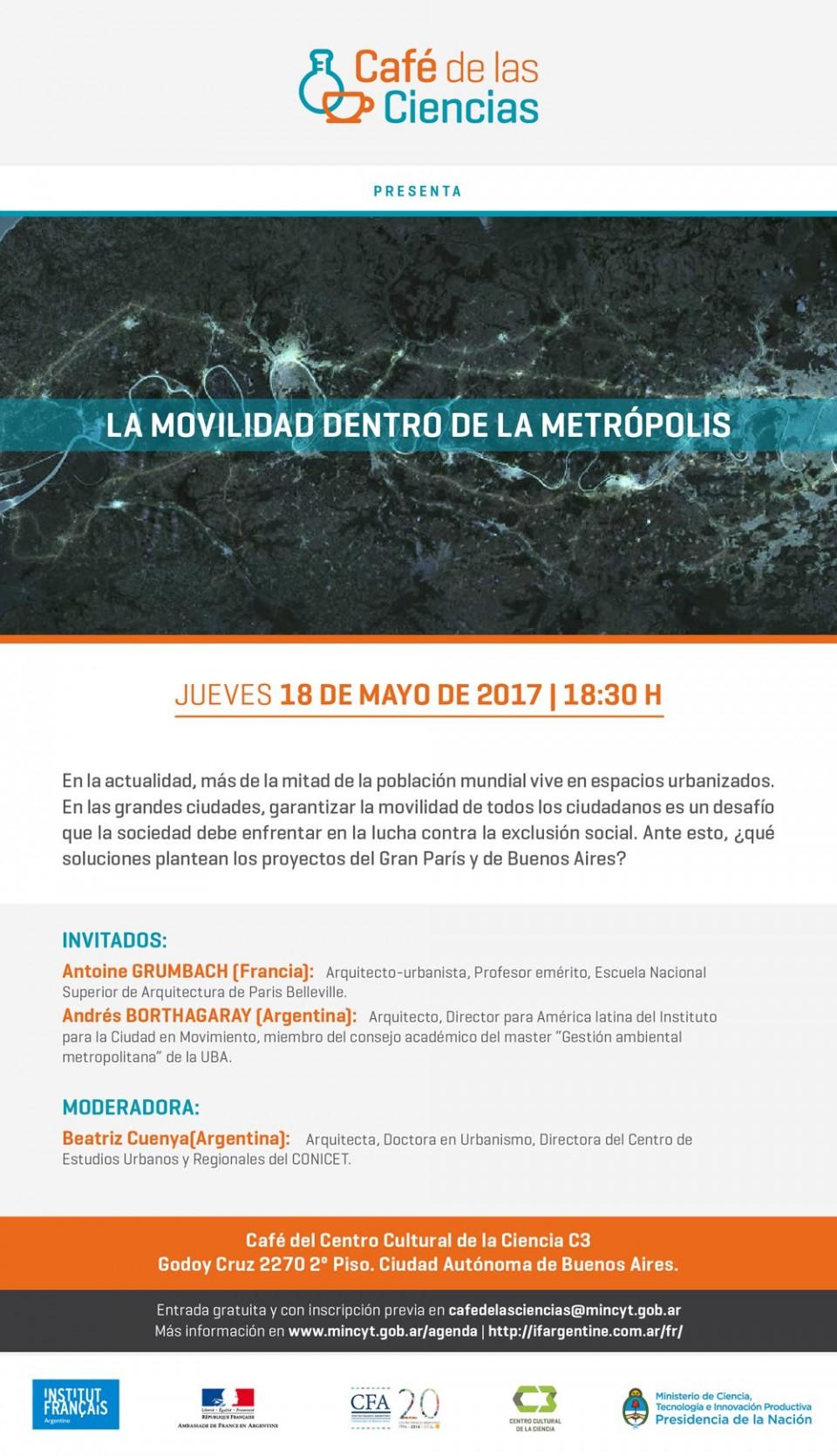 Conferencia: La Movilidad en el corazón de la Metrópoli - por Antoine Grumbach y Andrés Borthagaray