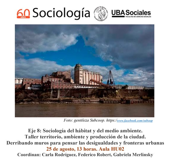 Taller urbano ambiental, Jornadas de Sociología. UBA Sociales