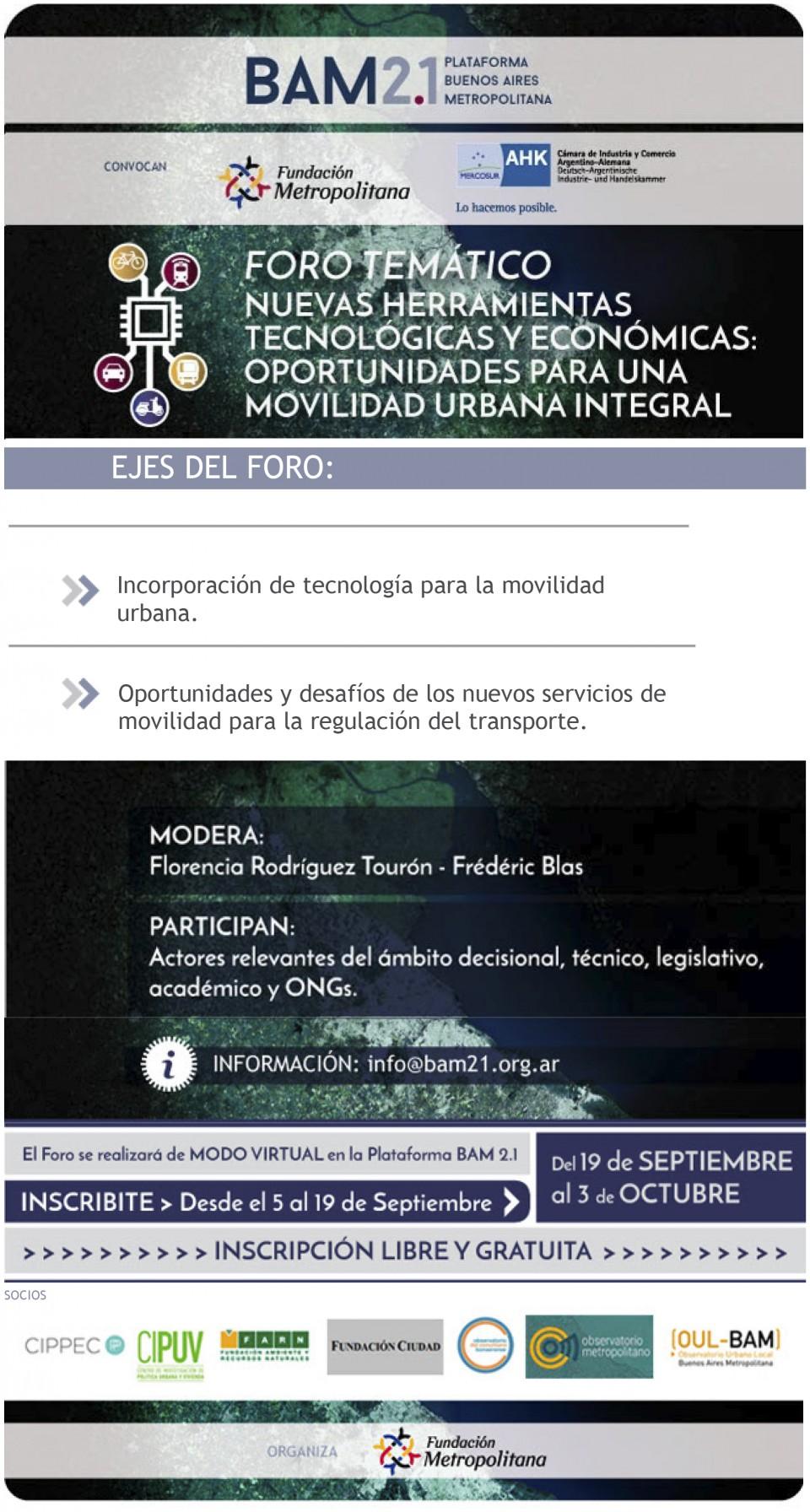 Foro Temático Transporte y Tecnología - Inscribite