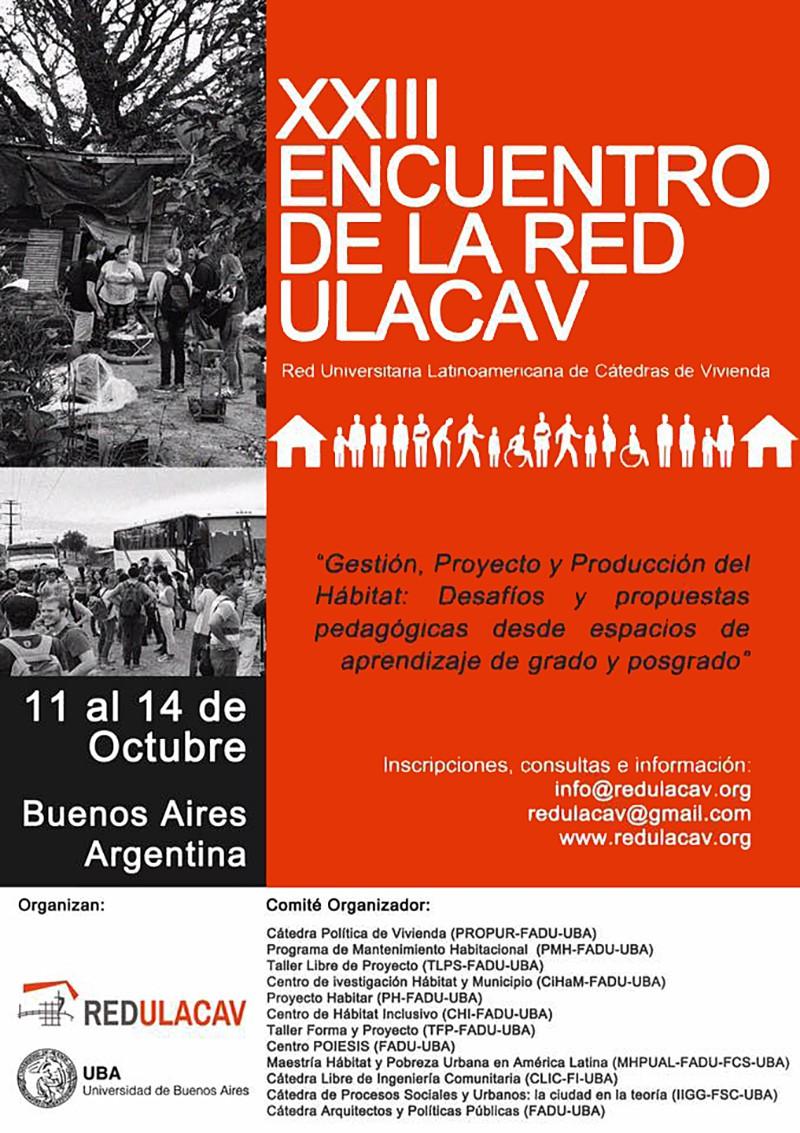 Encuentro red latinoamericana de catedras de vivienda
