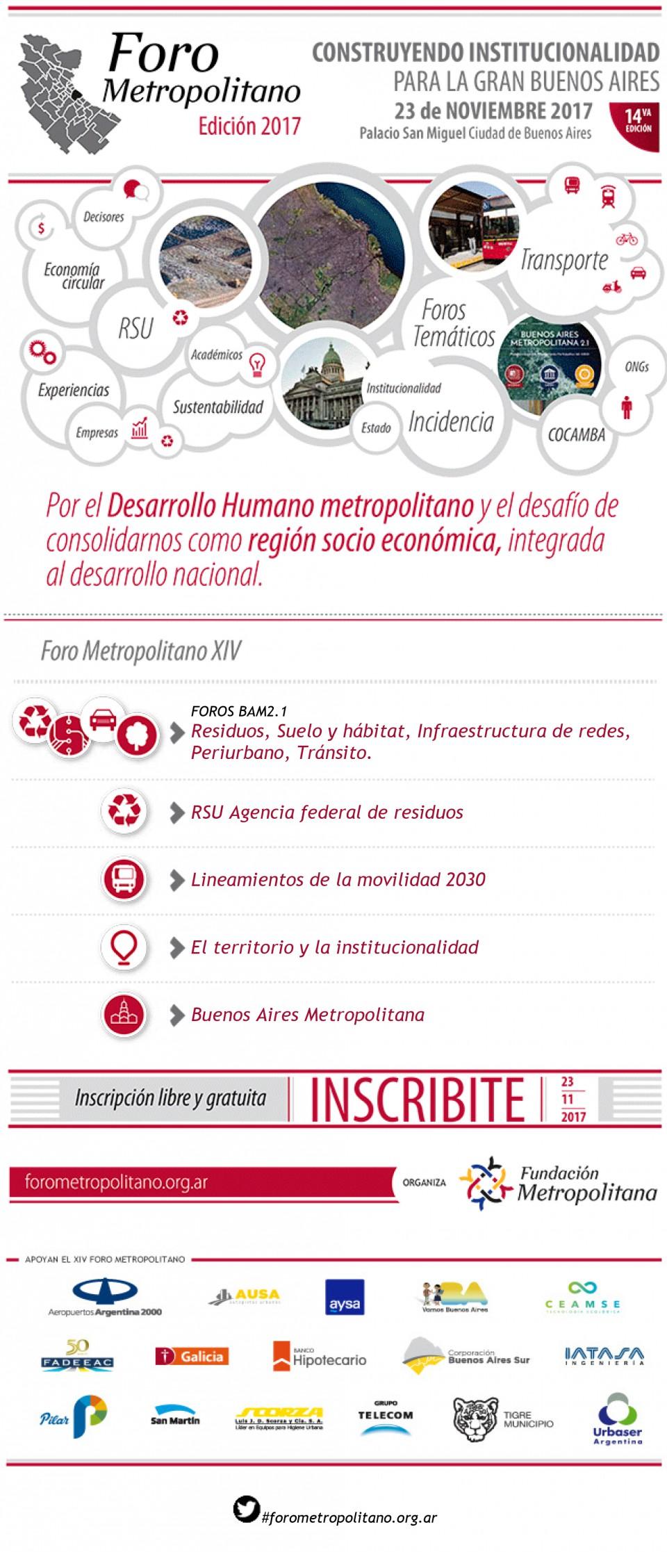 Se viene el Foro Metropolitano - 14 edición