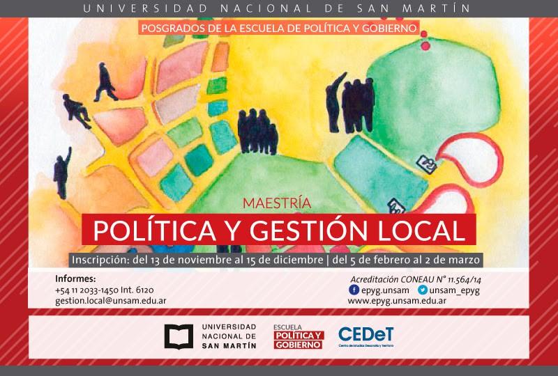 Maestría en Política y Gestión Local - Universidad Nacional de San Martín