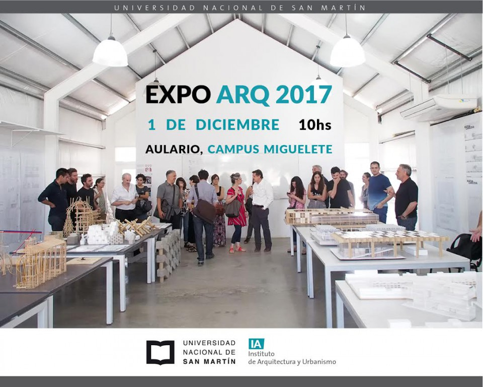 Invitación Expo Arquitectura 2017 UNSAM