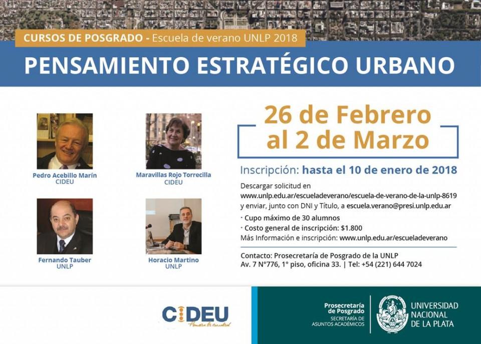 Curso de Posgrado Pensamiento Estratégico Urbano