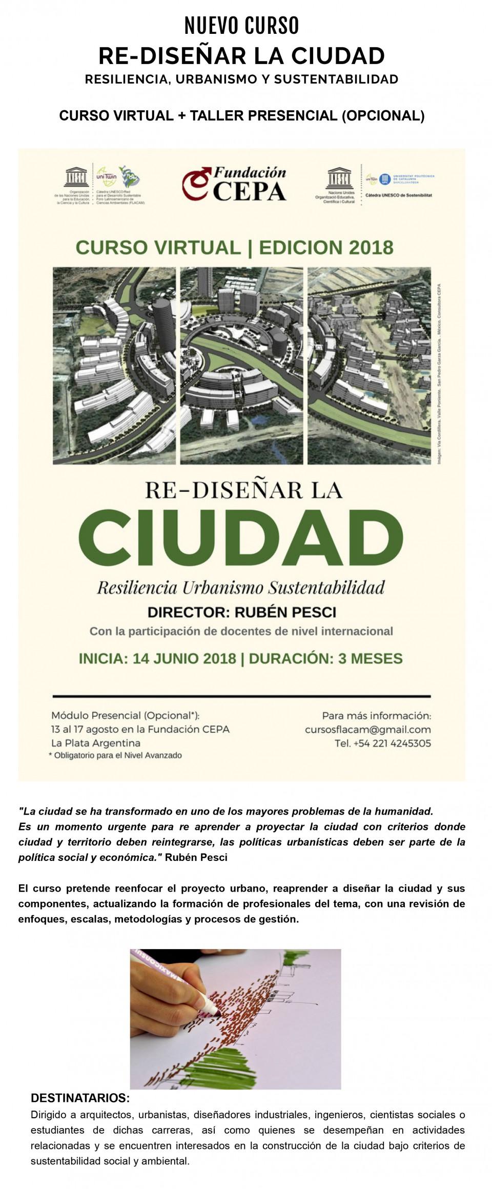 RE-DISEÑAR LA CIUDAD  RESILIENCIA, URBANISMO Y SUSTENTABILIDAD