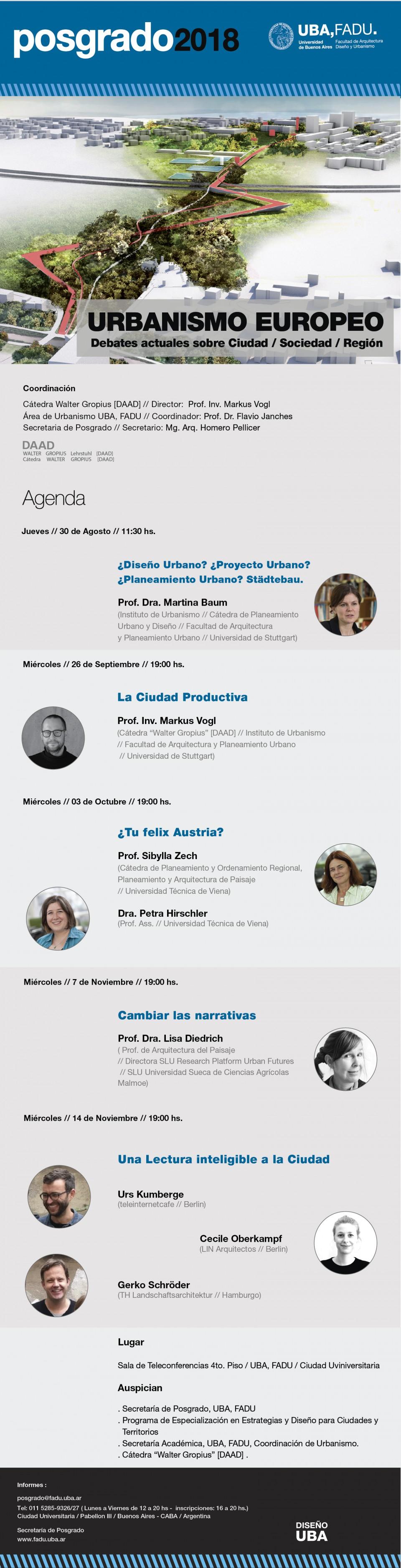 Posgrado UBA, FADU / Ciclo de Conferencias
