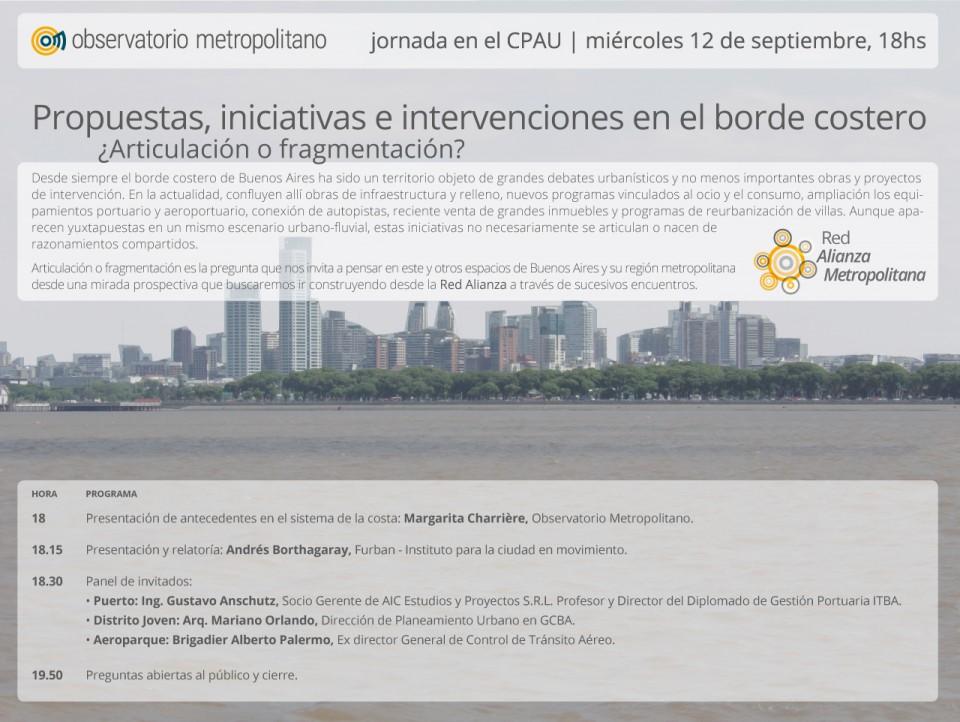Propuestas, iniciativas e intervenciones en el borde costero ¿Articulación o fragmentación?