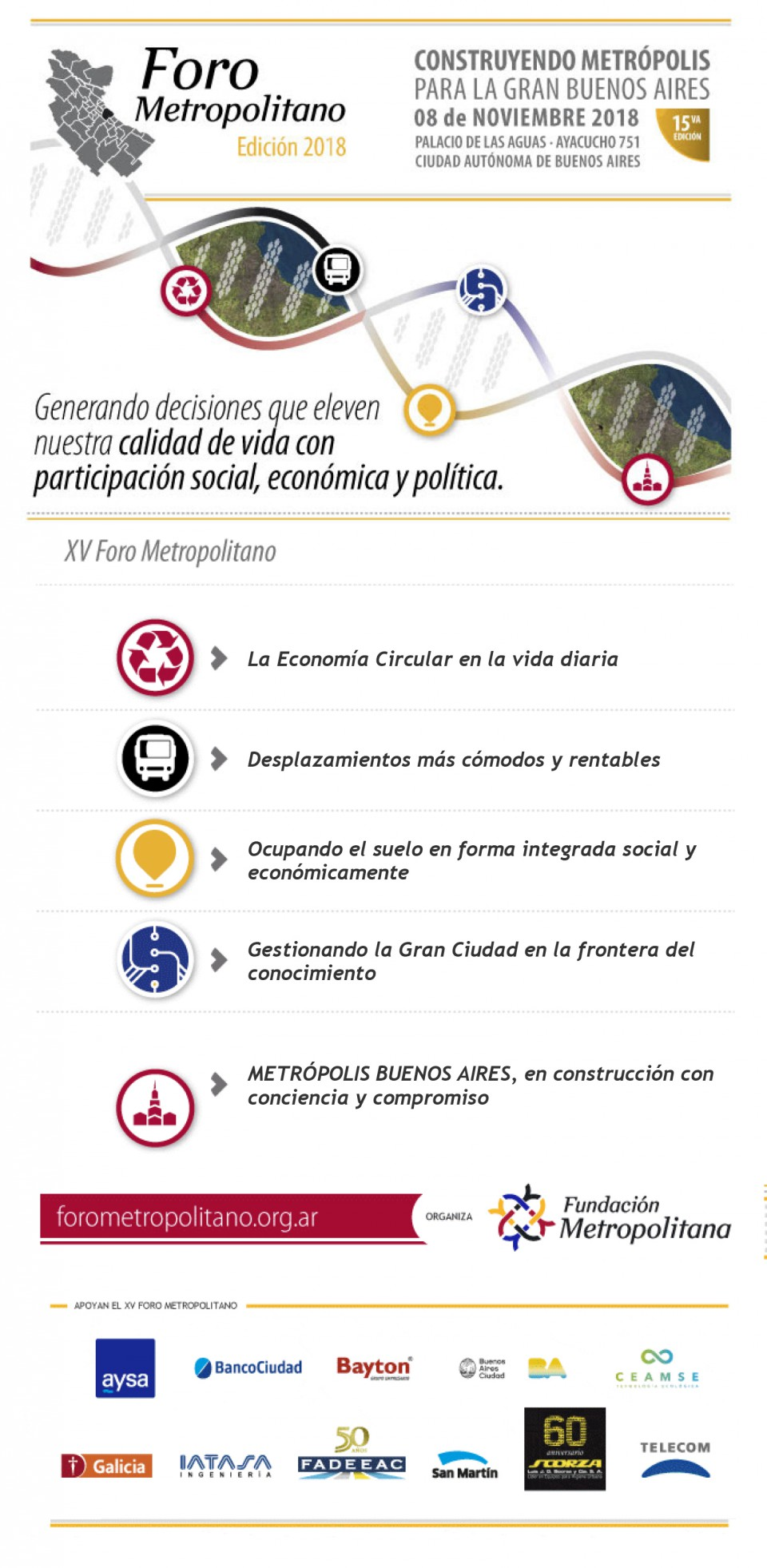 XV Foro Metropolitano - Inscripción libre y gratuita