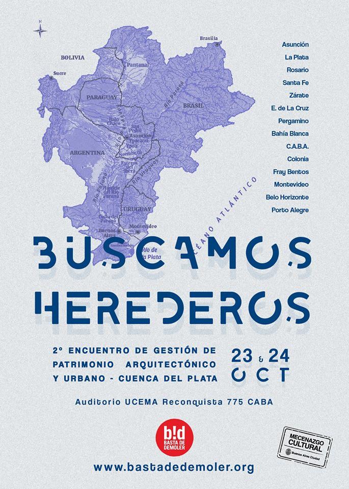 2° Encuentro de Gestión del Patrimonio Arquitectónico y  Urbanístico con foco en ciudades de la Cuenca del Plata