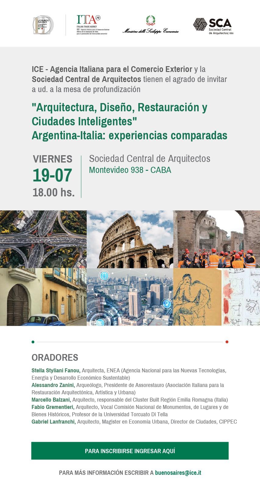 """Arquitectura, Diseño, Restauración y Ciudades inteligentes"""" Argentina – Italia: experiencias comparadas"""