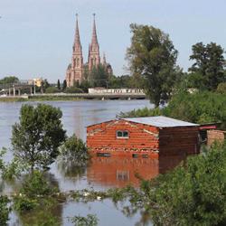 Inundaciones en el Río Luján