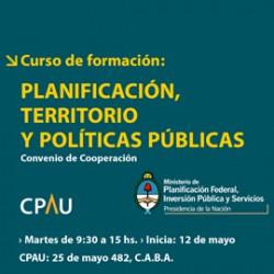 Curso de formación: PLANIFICACIÓN, TERRITORIO Y POLÍTICAS PÚBLICAS