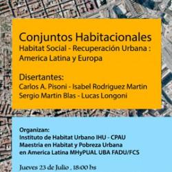 IHU | SEMINARIO Conjuntos habitacionales. Hábitat social, recuperación urbana: América Latina y Europa