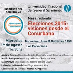 Elecciones 2015: visiones desde el Conurbano