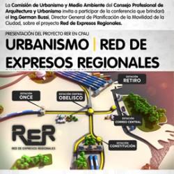 Presentación de la Red de Expresos Regionales   CABA, en el auditorio CPAU