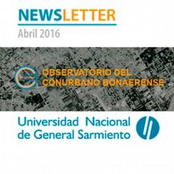 Newsletter del Observatorio del Conurbano de la UNGS
