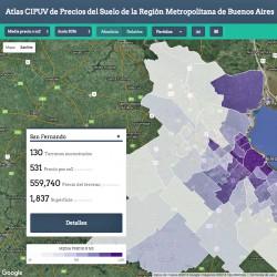 Atlas de precios de terrenos del Área Metropolitana de Buenos Aires UTDT