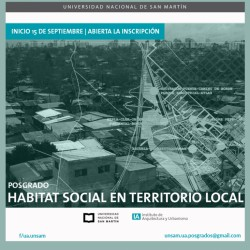UNSAM | Posgrado: Hábitat Social en territorio local