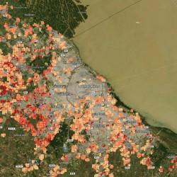 Crecimiento de las villas en la Argentina, desarrollan un mapa online que permite monitorearlo
