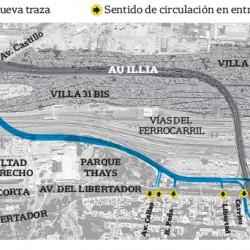 La costosa modificación de la Autopista Illia