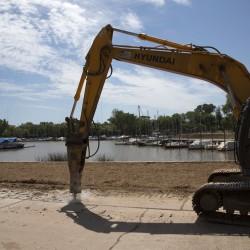 Empezaron las obras para convertir en parque público al puerto de San Isidro