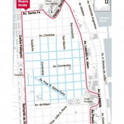 Amplían las restricciones para circular por el centro y llegarán al Casco Histórico