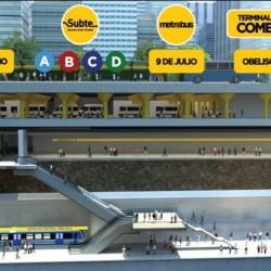 Frenan la construcción de un túnel ferroviario bajo la 9 de Julio