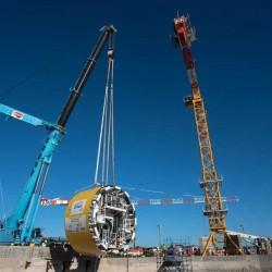 Avanza la obra del túnel aliviador del arroyo Vega: bajan la tuneladora