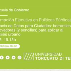 Formación Ejecutiva en Políticas Públicas: Ciencia de Datos para Ciudades