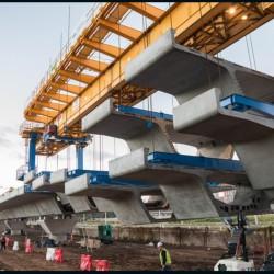 Viaducto Mitre: Así son las megamáquinas que lo construyen