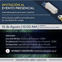 Evento Foro Movilidad y Logística. Articulación publico-privada para la movilidad de cargas