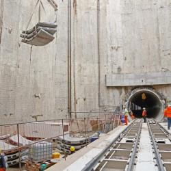 El segundo emisario del arroyo Vega ya es un túnel de 600 metros
