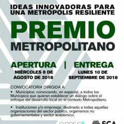 "Premio Metropolitano ""Ideas Innovadoras para una Metrópolis Resiliente"""