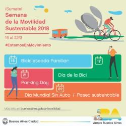 Se viene la 7ª edición de la Semana de la Movilidad Sustentable