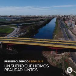 El Puente Olímpico Ribera Sur es una promesa cumplida