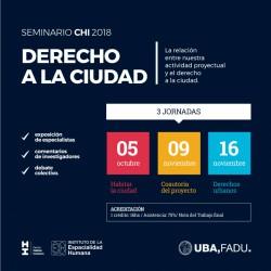 Seminario CHI | Derecho a la Ciudad | Centro Hábitat Inclusivo