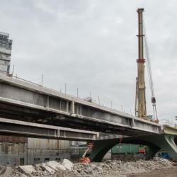 Comenzaron a desmontar el puente Juan B. Justo para hacer el viaducto San Martín