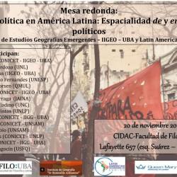 Geografía Política en América Latina: especialidad de y en los procesos políticos