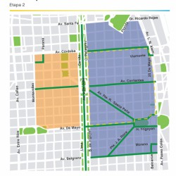Centro Peatonal: a partir de mañana, jueves 15 de noviembre, se implementa Tribunales