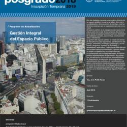 Posgrado Programas de Actualización Gestión Integral del Espacio Público Urbano- Inscripción temprana