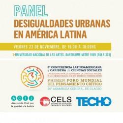 Panel Desigualdades urbanas en América Latina