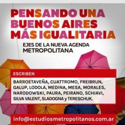 """Presentación """"Pensando una Buenos Aires más igualitaria. Ejes de la nueva agenda metropolitana"""""""