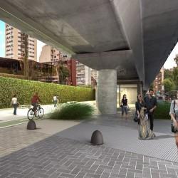 Belgrano: habrá un nuevo espacio verde bajo el viaducto del tren Mitre, cerca de Barrancas
