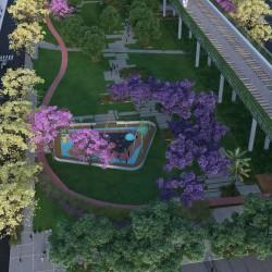 Comienza la construcción del Parque Ferroviario Palermo, sobre la avenida Juan B. Justo