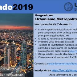 Posgrado en Urbanismo Metropolitano - FADU - UBA