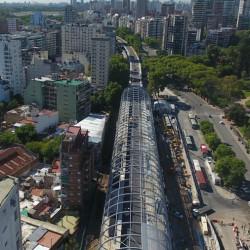 Viaducto del Tren Mitre: el perfil futurista de la estación Belgrano C ya le cambia la cara al barrio